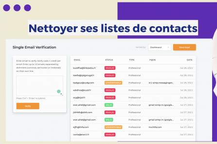 Nettoyer ses listes d'adresses mails et optimiser ses campagnes d'e-mailing
