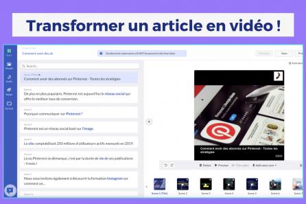 Transformer un article de blog en vidéo !