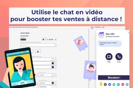 Un Tchat pour son site avec appel vidéo, prise de RDV, What's app, Facebook…