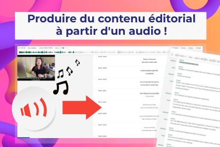Transcrire un audio ou une vidéo en texte !