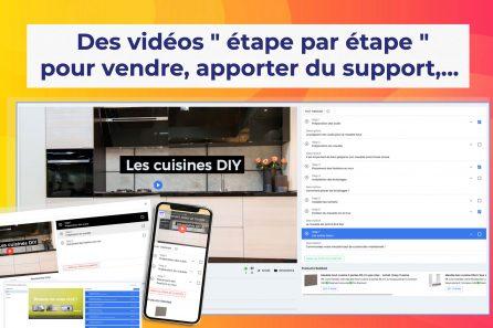 Intégrer des vidéos d'apprentissages étapes par étapes sur son site web !