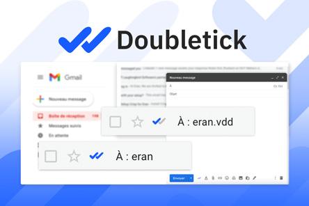 DoubleTick – Savoir si ton destinataire a lu ton mail et à quel moment !
