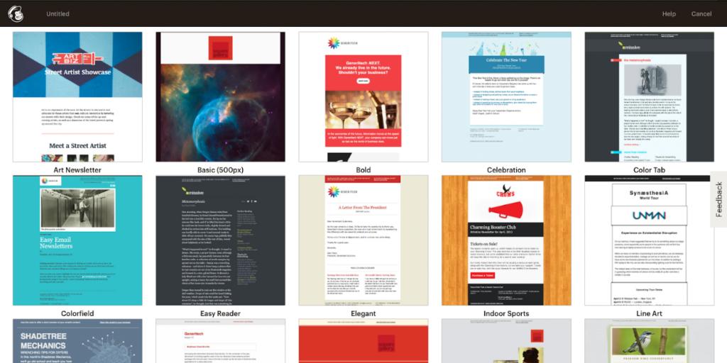 templates créatives mailchimp
